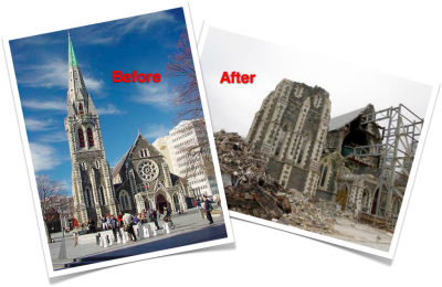 Christchurch Cathedral - Before & After